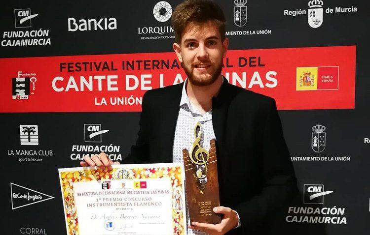 El joven pianista utrerano Andrés Barrios triunfa en el prestigioso Festival Internacional del Cante de las Minas (VÍDEO)