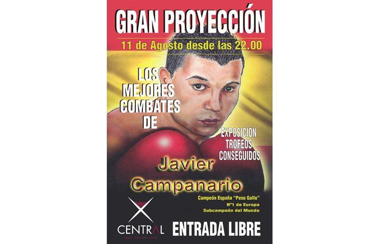 Una proyección repasará los mejores combates del boxeador Javier Campanario