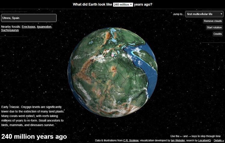¿Dónde estaba Utrera cuando solamente existía un continente en la Tierra?