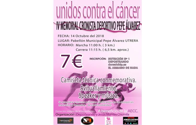 Abierto el plazo de inscripciones para una nueva edición del evento deportivo «Unidos contra el cáncer»
