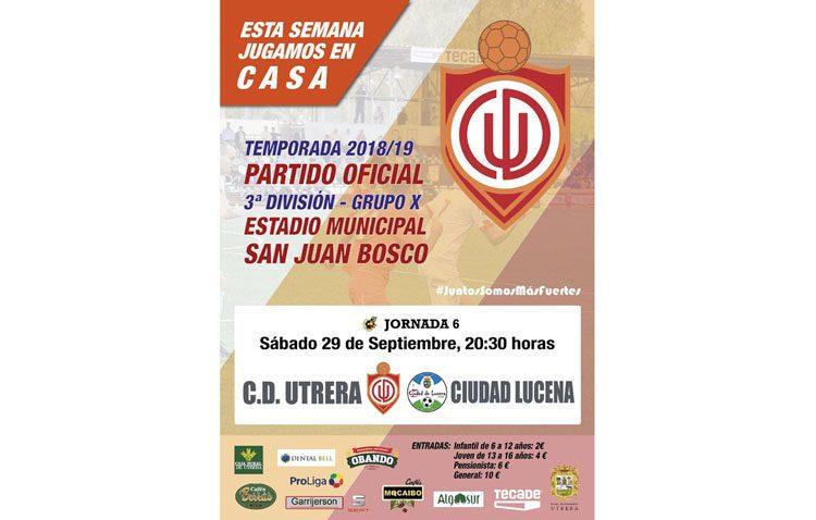 C.D. UTRERA –  C.D. CIUDAD DE LUCENA: A puntuar en el San Juan Bosco