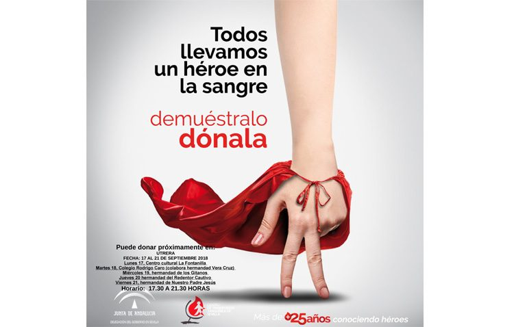 Otras cinco jornadas para donar sangre en Utrera