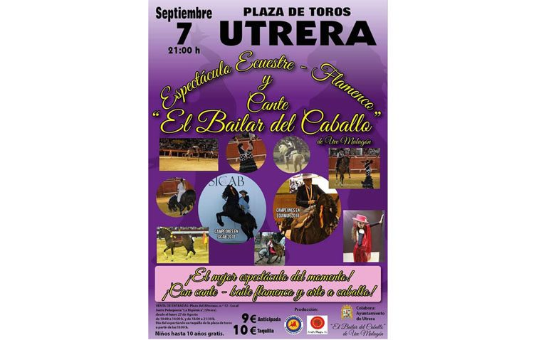 «El bailar del caballo», un espectáculo ecuestre-flamenco y de cante en la plaza de toros de Utrera