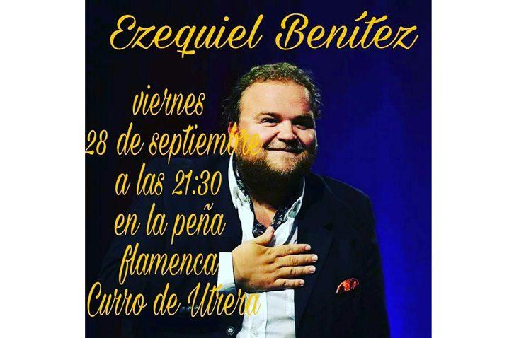 El jerezano Ezequiel Benítez, en concierto en la peña «Curro de Utrera»