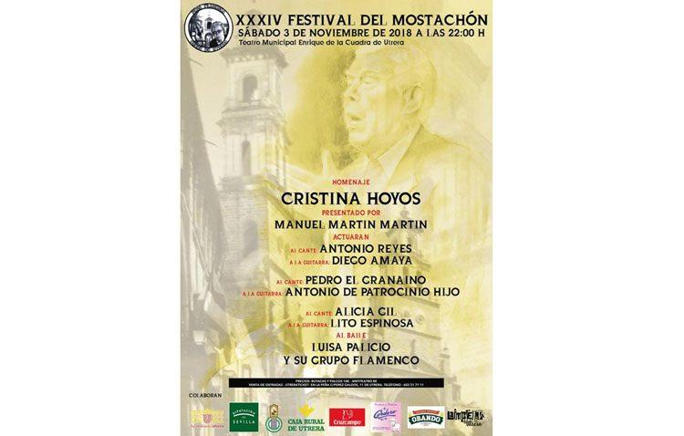 El Festival del Mostachón rendirá homenaje el sábado a la bailaora Cristina Hoyos