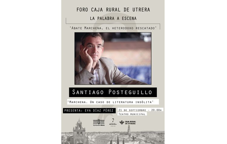 El escritor Santiago Posteguillo visita Utrera para hablar del Abate Marchena