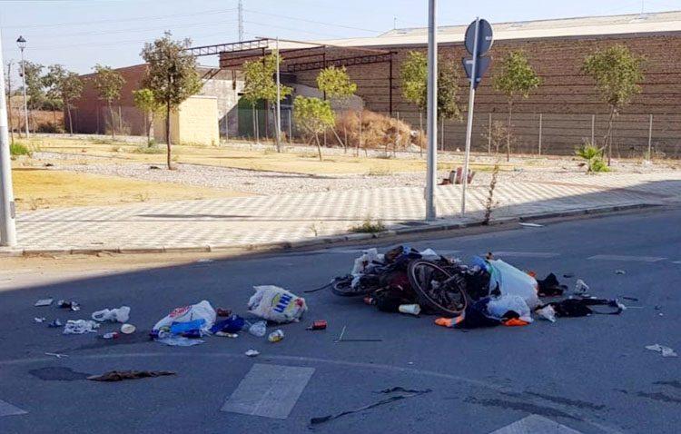 Buscan al autor del atropello al vagabundo de la bicicleta, tras darse a la fuga dejándolo con la pierna fracturada