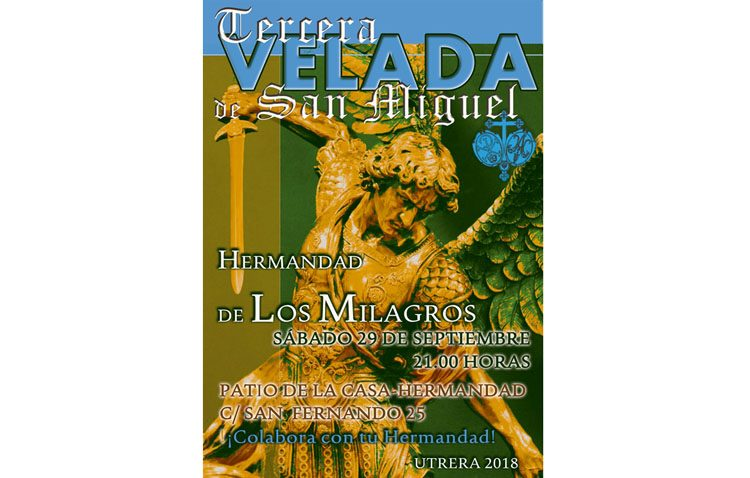 Velada en honor a San Miguel en la casa-hermandad de los Milagros
