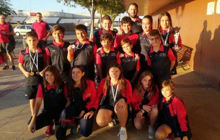 El Club Natación Utrera consigue la cuarta posición en la 1ª etapa del «Circuito Provincial de Natación por Clubes JJNN»