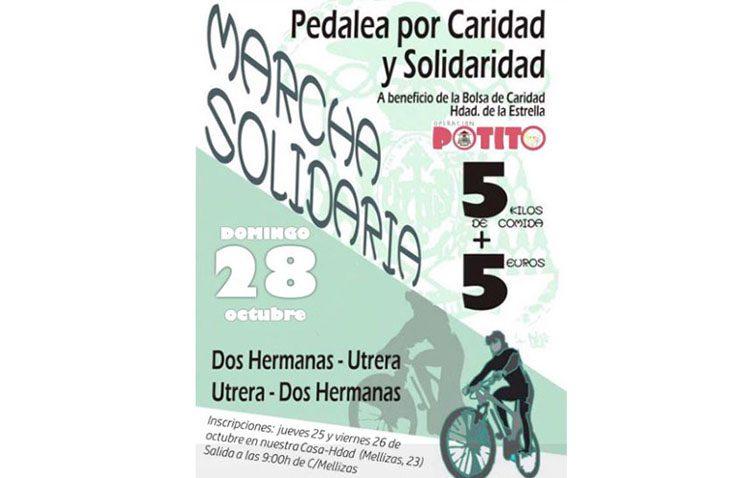 Una carrera ciclista solidaria de Dos Hermanas a Utrera