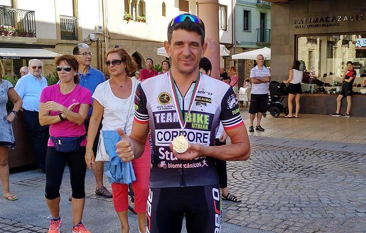 El utrerano Ubaldo Muñoz, imparable en ciclismo adaptado
