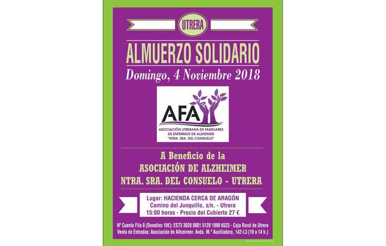 La asociación de familiares de enfermos de Alzheimer organiza su tradicional almuerzo solidario