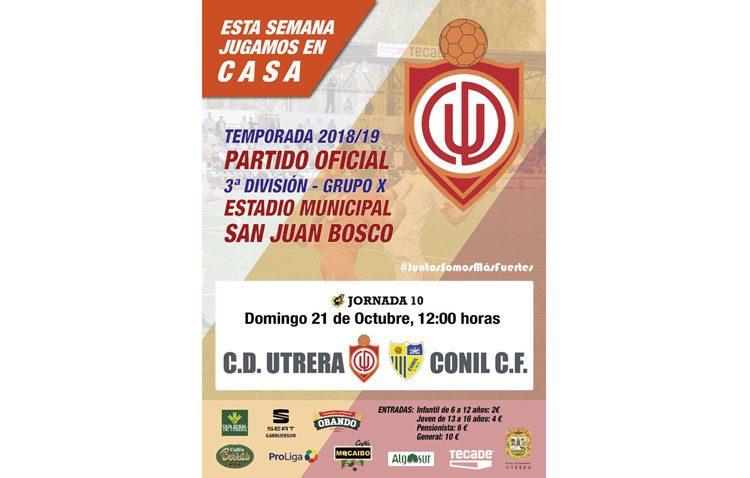 C.D. UTRERA – CONIL C.F.: Los de Galván buscan la segunda victoria en el San Juan Bosco