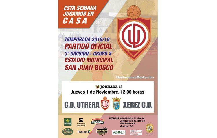 C.D.UTRERA – XEREZ C.D.: El San Juan Bosco acoge una nueva jornada de liga en el día de Todos los Santos