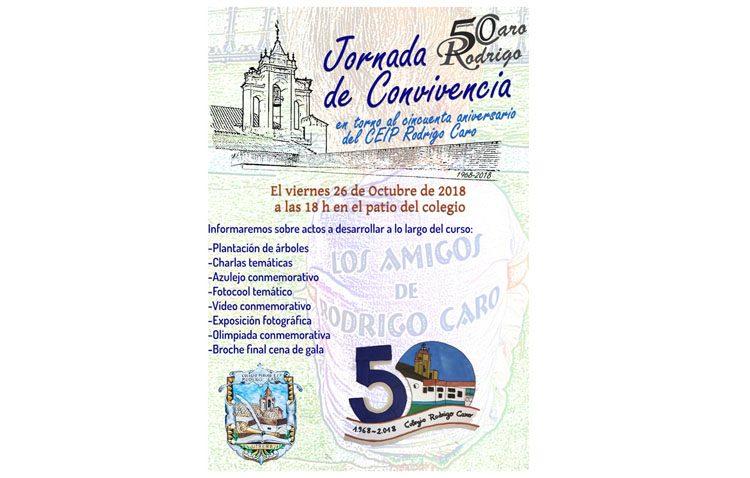 El colegio Rodrigo Caro organiza una jornada de convivencia para dar a conocer todos los detalles de su cincuentenario