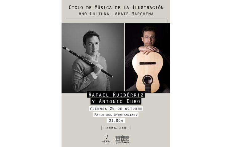 Flauta travesera y guitarra en un nuevo concierto en Utrera por el año cultural del Abate Marchena
