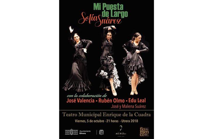 La bailaora utrerana Sofía Suárez llega al teatro con «Mi puesta de largo»