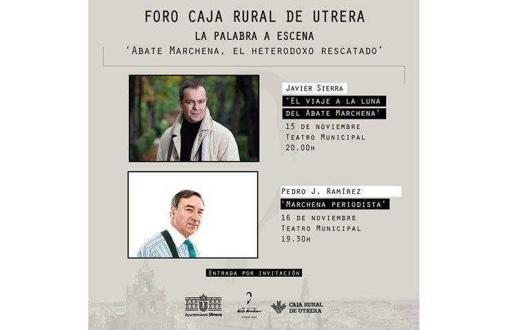 El escritor Javier Sierra y el periodista Pedro J. Ramírez, protagonistas de dos conferencias organizadas por Caja Rural de Utrera
