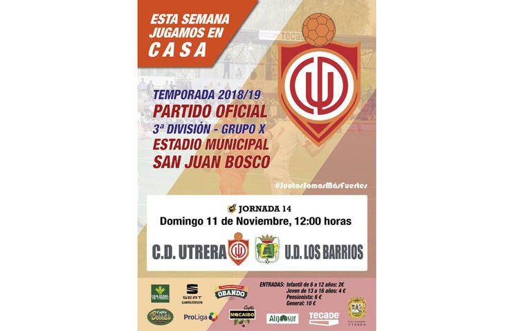 C.D. UTRERA – U.D. LOS BARRIOS: Un ilusionante Utrera vuele al San Juan Bosco