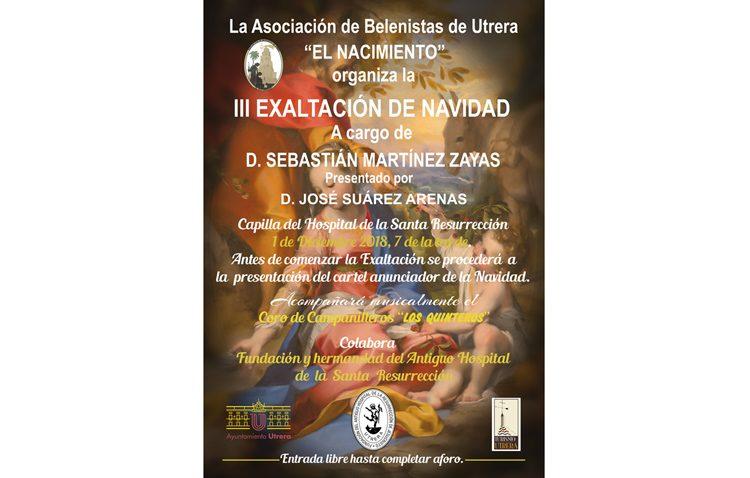 Sebastián Martínez Zaya pronunciará la exaltación navideña que organiza la asociación de belenistas de Utrera