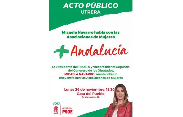 El PSOE organiza en Utrera un acto de campaña con las asociaciones de mujeres