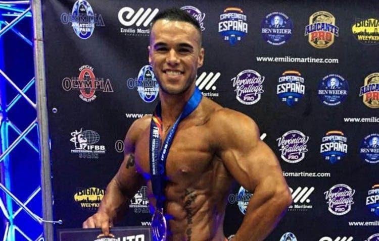 El fisioculturista utrerano Sergio Curado, preparado para el campeonato europeo tras ganar el bronce en el certamen nacional