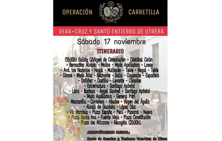 Tarde solidaria en Utrera con la «Operación carretilla» de la hermandad de la Vera-Cruz