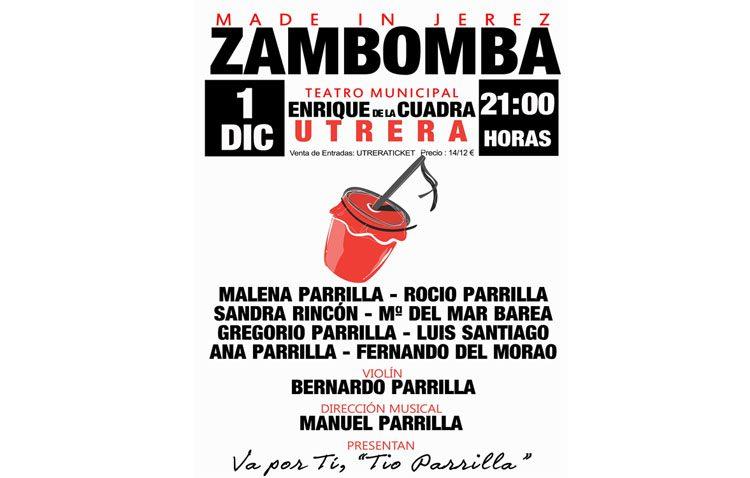 Zambomba flamenca jerezana en el teatro de Utrera