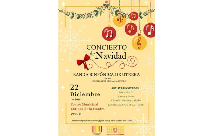 La Banda Sinfónica de Utrera ofrecerá un concierto de Navidad con melodías cinematográficas y villancicos