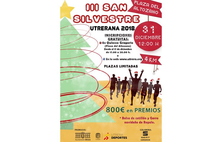 La carrera San Silvestre celebrará un concurso de disfraces para cerrar el año en Utrera