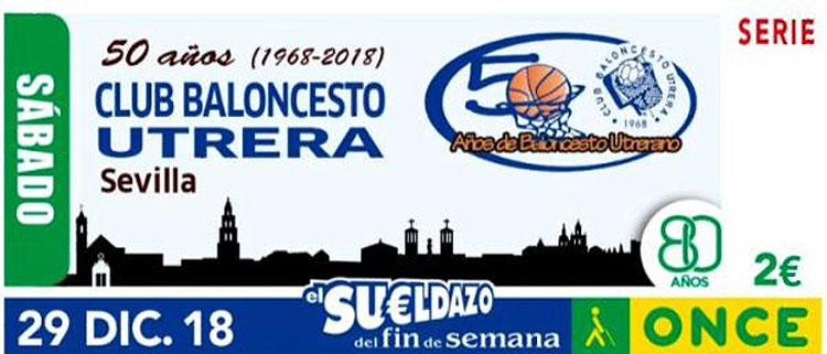 La ONCE presentará el viernes 21 el cupón dedicado al cincuentenario del Club Baloncesto Utrera