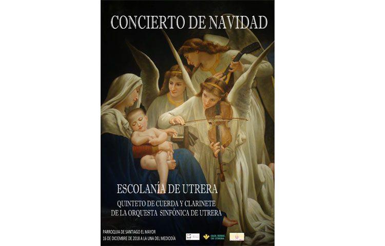 Un concierto navideño de la Escolanía de Utrera y un quinteto de clarinete y cuerda de la Orquesta Sinfónica de Utrera