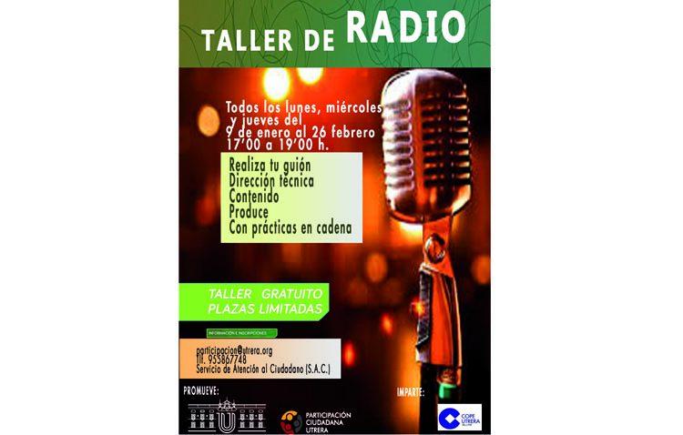 Participación Ciudadana impulsa un taller gratuito de radio en Utrera dirigido a todos los públicos