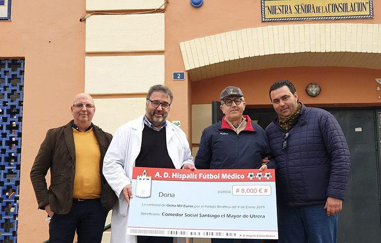 El partido a favor del comedor social de Utrera recauda 8.000 euros de beneficio