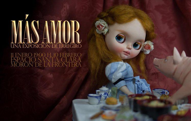 El artista utrerano Rafael Rodríguez Girona lleva «Más amor» a Morón de la Frontera