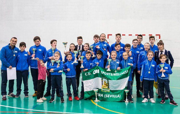 Éxito del club utrerano «On Sport & Wellness» al alzarse con una veintena de medallas en el Campeonato de Sevilla Infantil