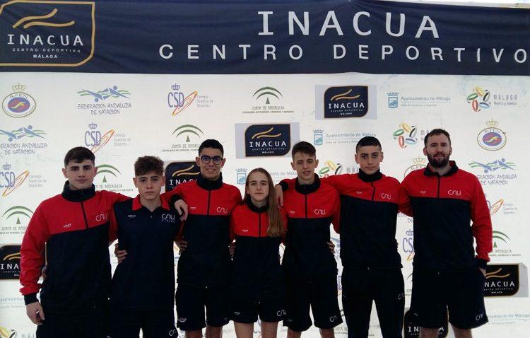 El nadador Jorge Pérez, medalla de bronce en el campeonato de Andalucía Infantil de Invierno