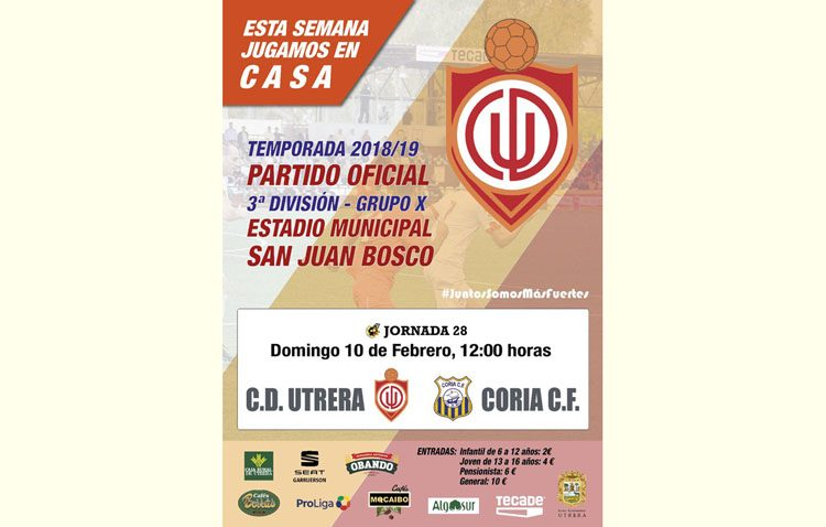 C.D. UTRERA – CORIA C.F.: Aprovechar el factor cancha