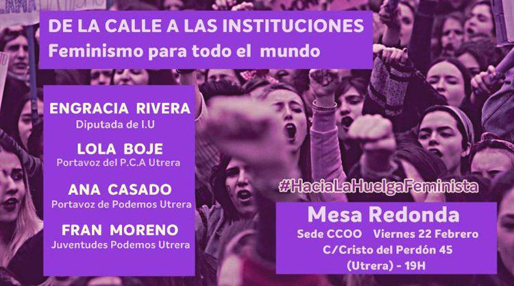 Una mesa redonda hablará en Utrera sobre feminismo