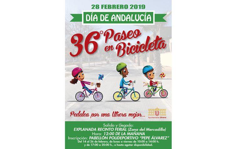 Un paseo en bicicleta para celebrar en Utrera el Día de Andalucía