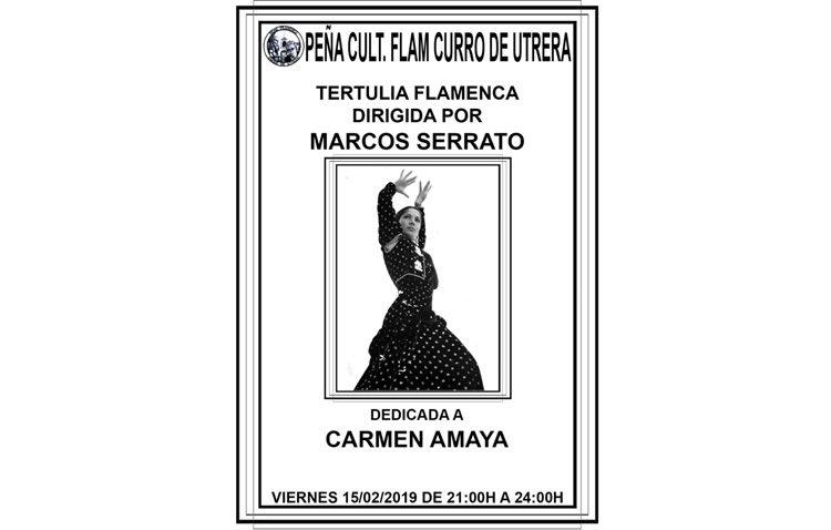 La peña «Curro de Utrera» organiza una tertulia flamenca dedicada a Carmen Amaya