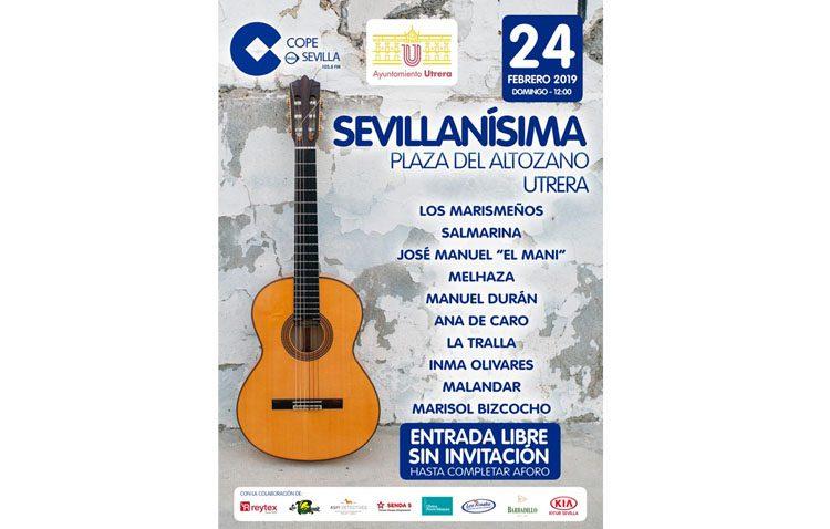 Una decena de artistas participarán en la gala «Sevillanísima» prevista en la plaza del Altozano