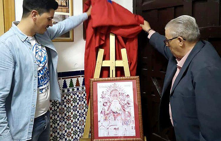 Monumentos e imágenes de la Semana Santa de Utrera en el cartel editado por la hermandad de la Trinidad