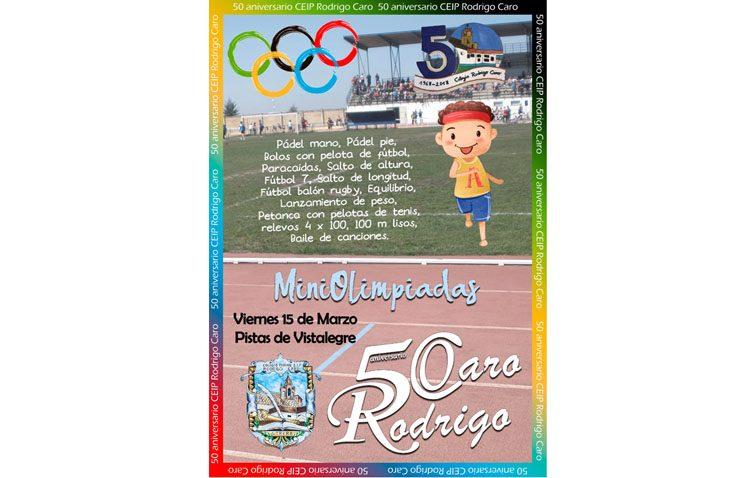 Unas miniolimpiadas para celebrar las bodas de oro del colegio Rodrigo Caro