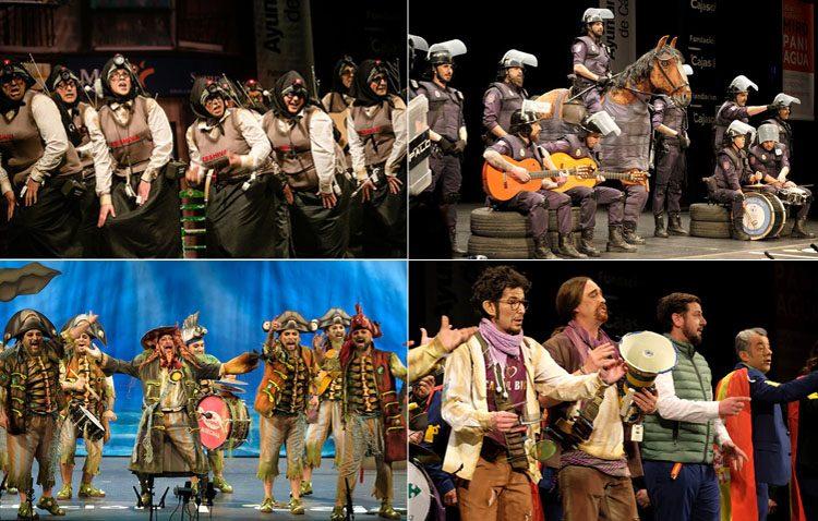 Tarde de sábado en la plaza del Altozano con la actuación de cuatro chirigotas