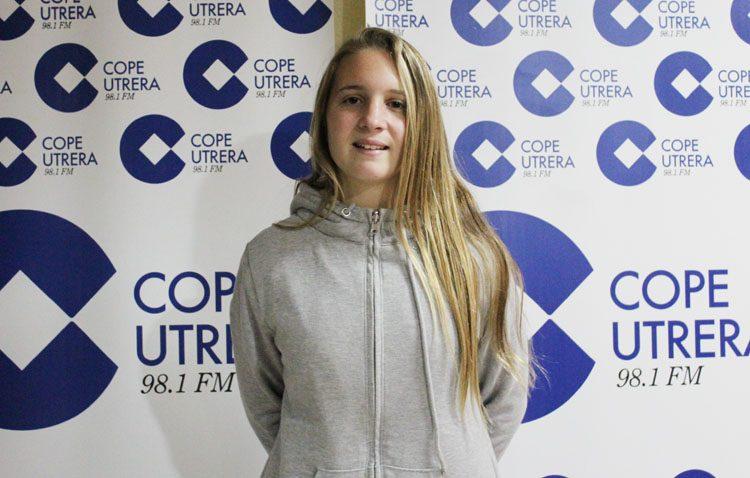 La utrerana Lidia Rayo, una joven de catorce años que despunta en el mundo del fútbol