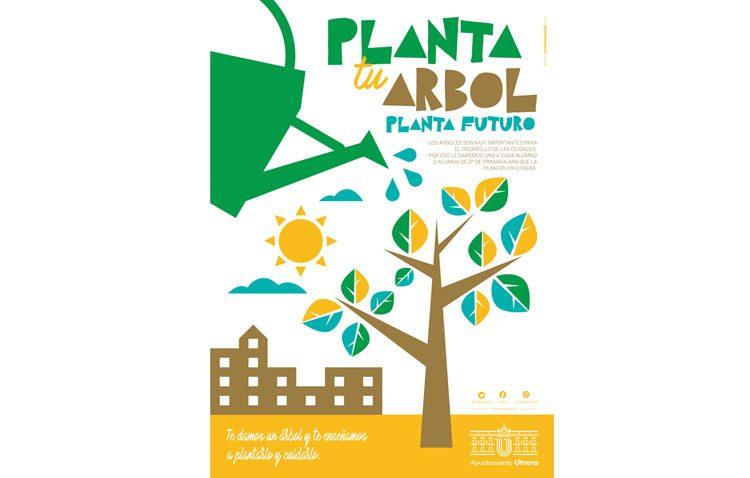 Una plantación escolar para enseñar a los niños de Utrera la importancia de los árboles en las ciudades