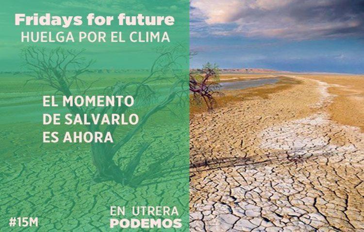 Podemos Utrera manifiesta su apoyo a la movilización contra el cambio climático prevista este viernes en Europa