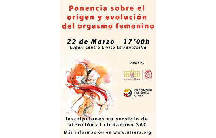 El Ayuntamiento de Utrera organiza una ponencia sobre el origen y la evolución del orgasmo femenino