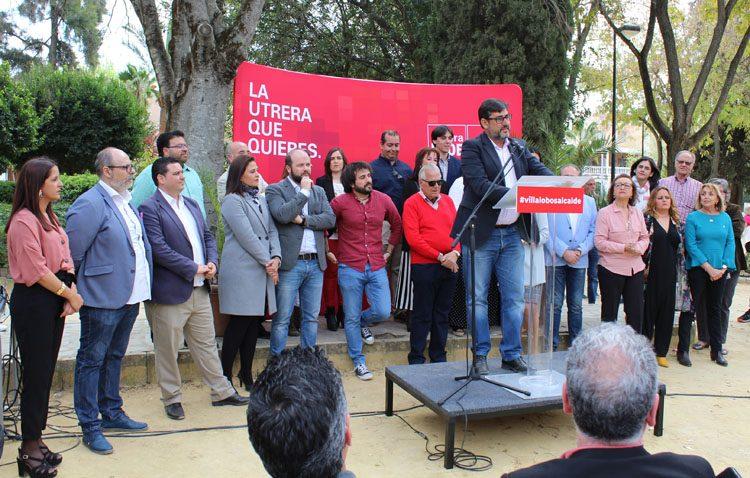 El PSOE propone «un pacto por el futuro» de Utrera en la presentación de su candidatura a las elecciones municipales